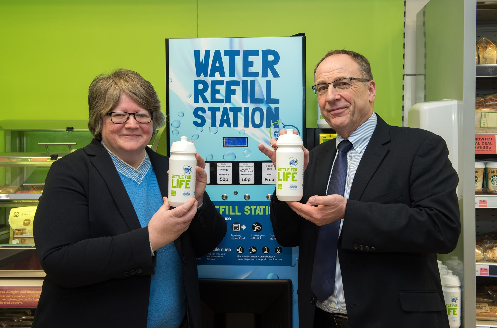 East of England Co-op trials water refill stations | News